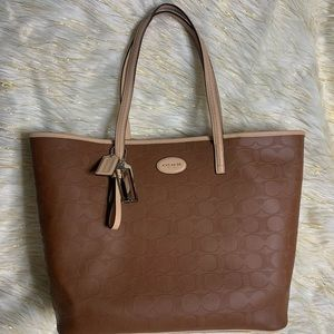 COACH Metro Embossed Leather Tote (F31944)